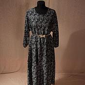 Платье черное узоры