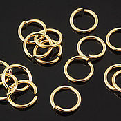 Материалы для творчества handmade. Livemaster - original item 10 PCs. Rings the unit. 7 mm gold plated th. Korea (2095). Handmade.