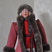 Куклы и игрушки ручной работы. Ярмарка Мастеров - ручная работа Кукла крестьянский парень в зимнем костюме 19 век. Handmade.