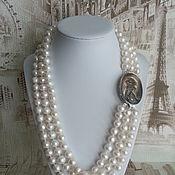 Украшения handmade. Livemaster - original item The necklace of Pearls - cameo. Handmade.