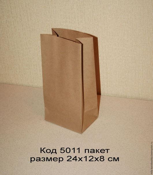 Код 5011 крафт пакет размер 24х12х8 см