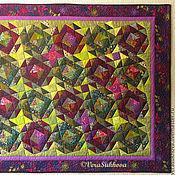 Для дома и интерьера handmade. Livemaster - original item Patchwork plaid-blanket