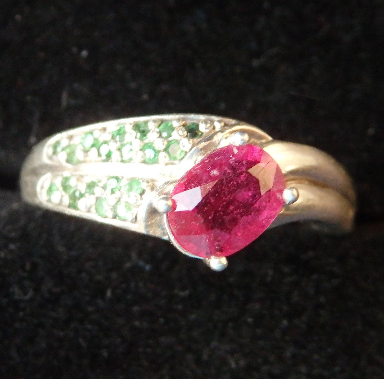 Кольцо с рубином и гранатами, Кольца, Балашиха,  Фото №1