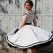 """Одежда ручной работы. Ярмарка Мастеров - ручная работа Платье в стиле 50-х """"Черно-белое кино"""". Handmade."""