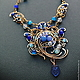 Necklaces & Beads handmade. Necklace Jamilya. color of magic. My Livemaster.Фото №6