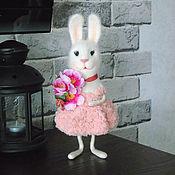 Куклы и игрушки handmade. Livemaster - original item Interior toy hare . A toy from wool.. Handmade.
