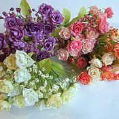 Материалы для творчества ручной работы. Ярмарка Мастеров - ручная работа Розочки с мелкоцветом 30см ( 4 расцветки). Handmade.