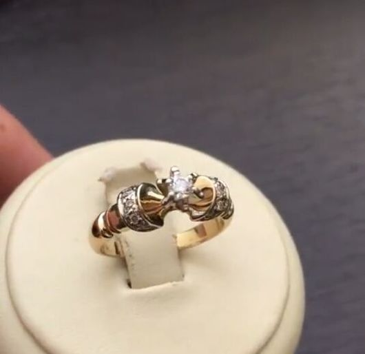Кольца ручной работы. Ярмарка Мастеров - ручная работа. Купить Брилоиантовое кольцо. Handmade. Золотое кольцо, принцесса кольцо, бриллианты