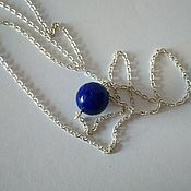 Necklace handmade. Livemaster - original item Mini necklace Sapphire