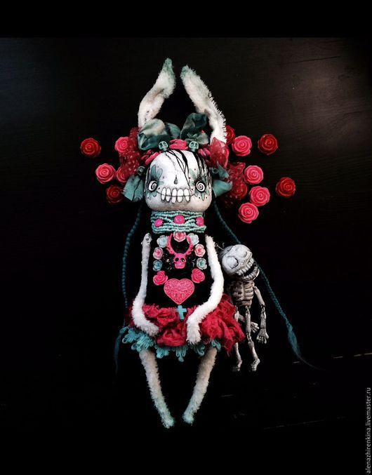 Мишки Тедди ручной работы. Ярмарка Мастеров - ручная работа. Купить Скелетка. Handmade. Тедди, Алёна Жиренкина, helloween, готик