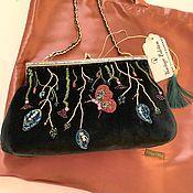 Сумка с фермуаром ручной работы. Ярмарка Мастеров - ручная работа Вечерняя бархатная сумочка. Handmade.