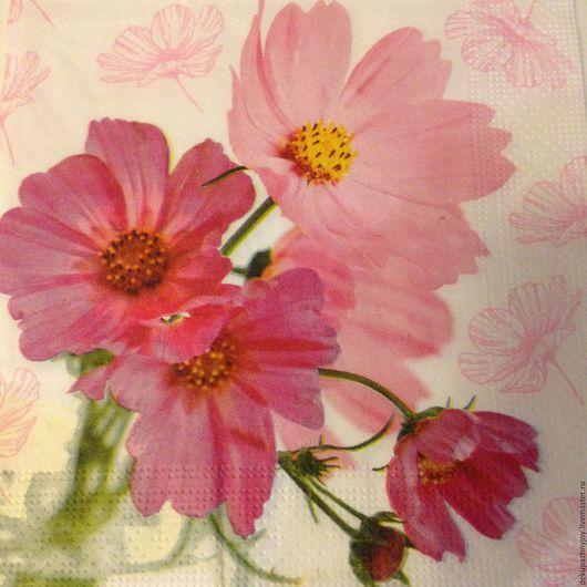 Розовая нежность - цветочки - салфетка для декупажа Декупажная радость