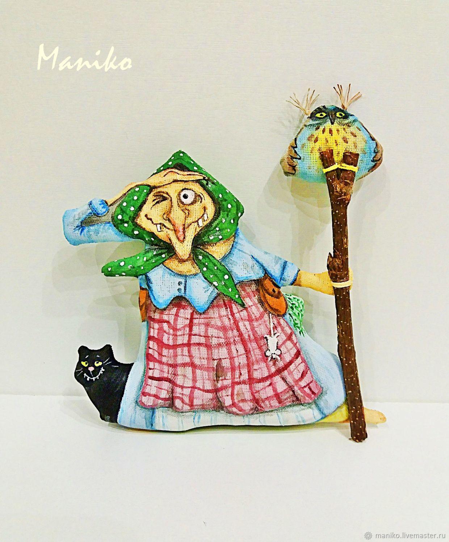 Баба Яга с филином, Мягкие игрушки, Ярославль,  Фото №1