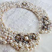 Аксессуары handmade. Livemaster - original item Necklace-collar of pearls Royal. Handmade.