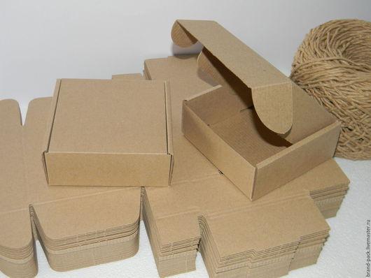 Упаковка ручной работы. Ярмарка Мастеров - ручная работа. Купить Коробка 12x12x5 см, микрогофра. Handmade. Коробка, крафт упаковка