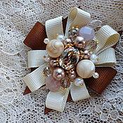 Украшения handmade. Livemaster - original item Brooch with natural stones,pearls and Swarovski