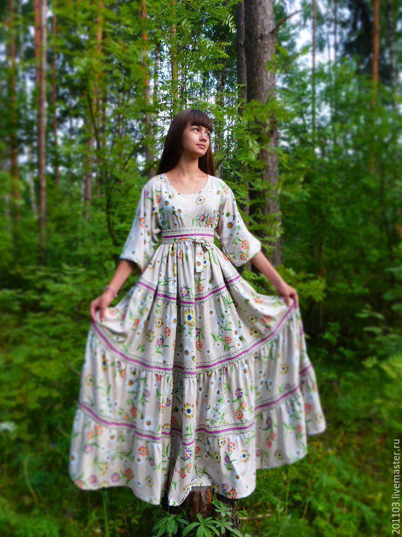 Платье в русском стиле сшить