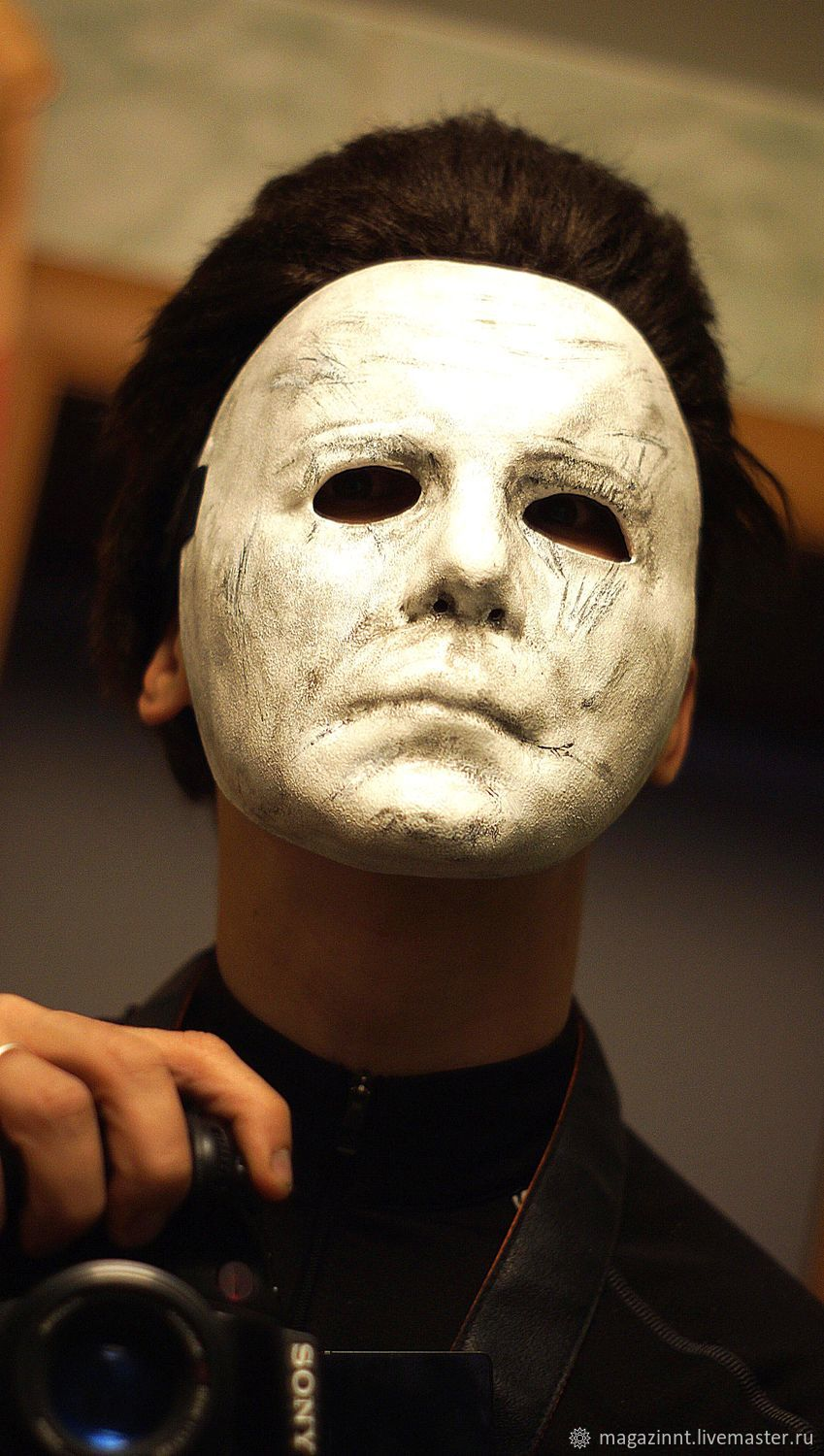 Hand made Michael Myers mask with WIG Hair Plastic, Mask for role playing, Moscow,  Фото №1