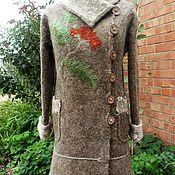 """Одежда ручной работы. Ярмарка Мастеров - ручная работа Валяное пальто """"Рябиновая пора"""". Handmade."""