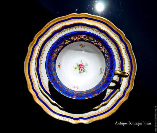 Винтажная посуда. Ярмарка Мастеров - ручная работа. Купить 1920-1930е Немецкий чайные трио. Handmade. Антиквариат, раритет