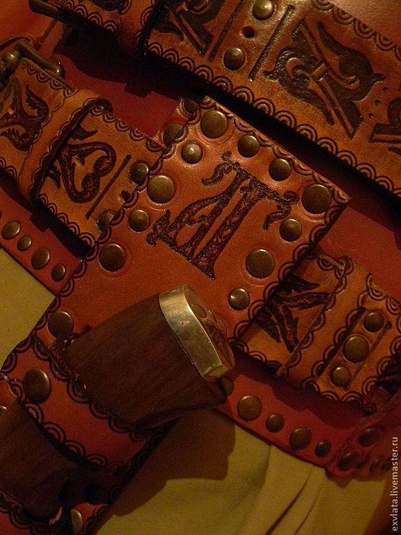 """Ножны для ножа кожаные именные """"Русич"""", Сумки и аксессуары, Москва, Фото №1"""