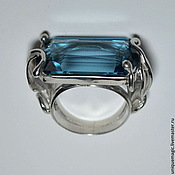 Украшения handmade. Livemaster - original item Ring with Topaz London blue. 925 sterling silver st.. Handmade.