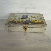Для дома и интерьера handmade. Livemaster - original item Wooden bill holder with lavender. Provence. Handmade.