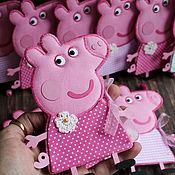 """Открытки ручной работы. Ярмарка Мастеров - ручная работа Мини-открыточки """"Свинка Пеппа"""". Handmade."""