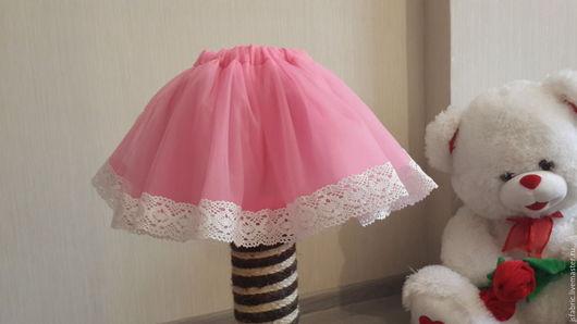 Юбки ручной работы. Ярмарка Мастеров - ручная работа. Купить Детская юбка пачка с кружевом. Handmade. Розовый, юбка, фатин