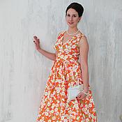 "Одежда handmade. Livemaster - original item Ретро платье в стиле 60-х ""РомаРомаРомашка"". Handmade."