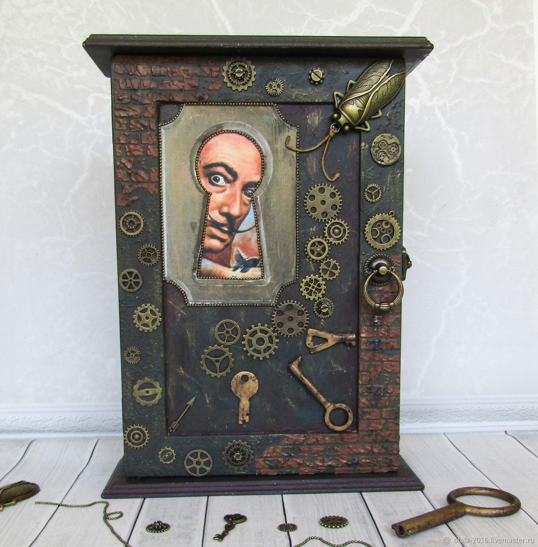 Ключница Сальвадор. Стимпанк, Ключницы настенные, Химки,  Фото №1