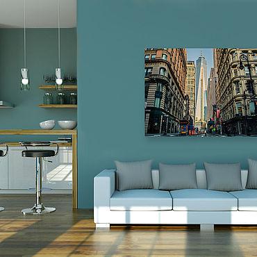 Картины и панно ручной работы. Ярмарка Мастеров - ручная работа Картина на холсте В большом городе. Handmade.