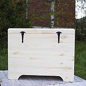 Для дома и интерьера ручной работы. Ярмарка Мастеров - ручная работа Сундук деревянный-1 (для росписи и декупажа). Handmade.