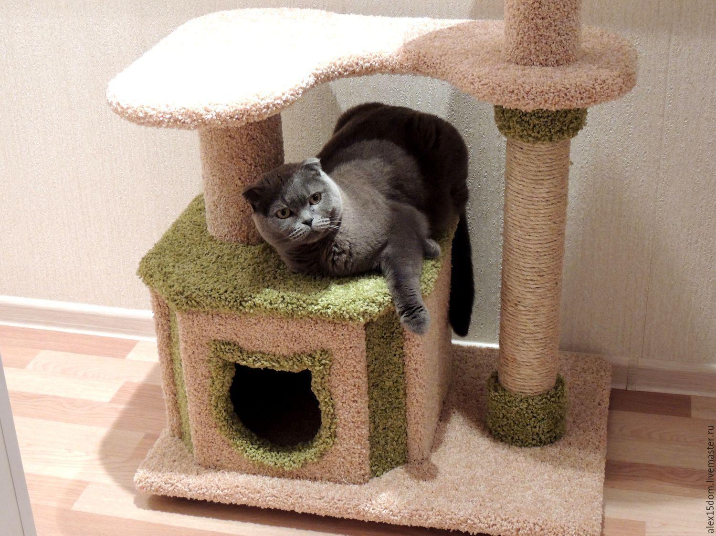 Домик для кошки своими руками фото чертежи