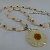 Украшения handmade. Livemaster - original item Necklace made of howlite and hematite stones