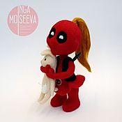 Куклы и игрушки ручной работы. Ярмарка Мастеров - ручная работа Кукла войлочная Леди-Дэдпул. Handmade.