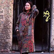 """Одежда ручной работы. Ярмарка Мастеров - ручная работа авторское валяное пальто в технике """"пэчворк """". Handmade."""