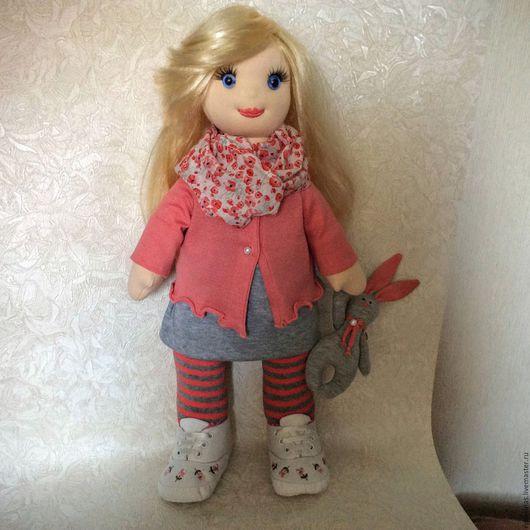 Коллекционные куклы ручной работы. Ярмарка Мастеров - ручная работа. Купить Кукла текстильная  Алёнка .. Handmade. Кукла ручной работы