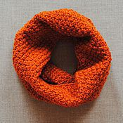 Аксессуары handmade. Livemaster - original item Snood knit Terracotta. Handmade.