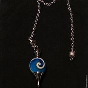 Фен-шуй и эзотерика handmade. Livemaster - original item Lampwork light blue 40mm Gemstone Ball Pendulum Chakra Pendant. Handmade.