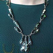 handmade. Livemaster - original item Necklace black onyx vintage 925 MEXIKO. Handmade.