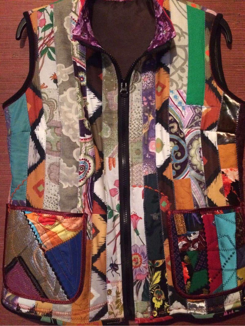 Women's patchwork vest Hope, Vests, Moscow,  Фото №1