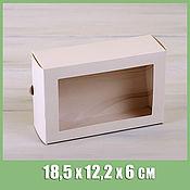 Коробки ручной работы. Ярмарка Мастеров - ручная работа Коробка для макаронс на12 шт,18,5х12,2х6 см, с окошком, белая. Handmade.