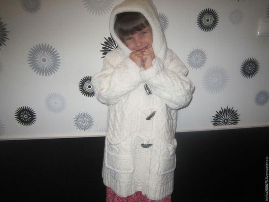 Одежда для девочек, ручной работы. Ярмарка Мастеров - ручная работа. Купить Скидка 50% на Шикарное теплое белое пальто для девочки. Handmade.