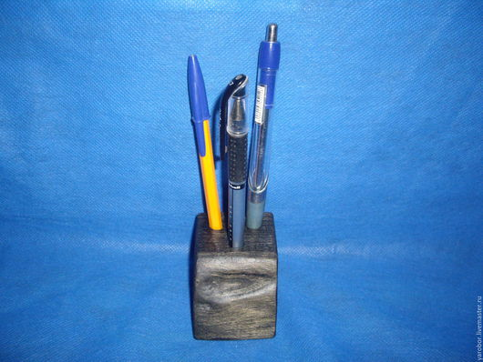 Карандашницы ручной работы. Ярмарка Мастеров - ручная работа. Купить Карандашница в стиле эко. Handmade. Черный, массив, темный, лофт