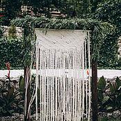 Свадебный салон ручной работы. Ярмарка Мастеров - ручная работа Свадебная штора - макраме. Handmade.