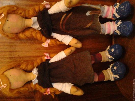 Куклы Тильды ручной работы. Ярмарка Мастеров - ручная работа. Купить Эмма и Элла. Handmade. Бежевый, лен, воронеж