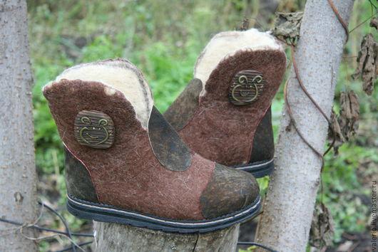 Обувь ручной работы. Ярмарка Мастеров - ручная работа. Купить Гамми ( Виктория). Handmade. Коричневый, валенки, валенки с рисунком