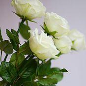 Цветы ручной работы. Ярмарка Мастеров - ручная работа Розы белые из холодного фарфора. Handmade.