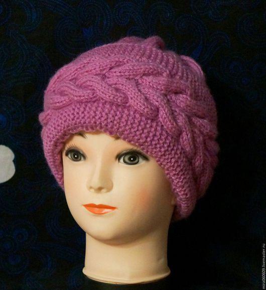 Шапки ручной работы. Ярмарка Мастеров - ручная работа. Купить Вязаная зимняя шапка с объемным отворотом. Handmade. Шапка